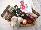 LUXURY SMALL DOG PUPPY CHRISTMAS GIFT HAMPER GIFT WRAPPED WITH CARD ONLY 1 MADE